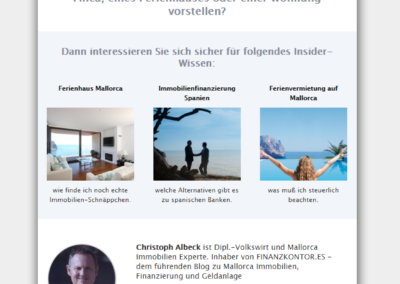 5 Touch Drip Email Series for Finanz Kontor