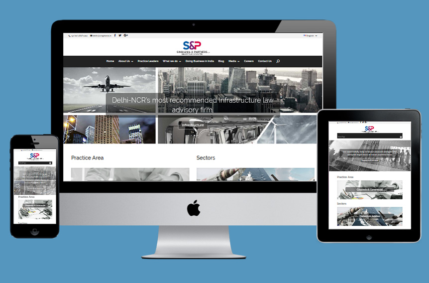 Singhania & Partners Law Firm Website