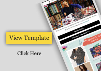 E-commerce Email Template Design to promote fashion fabric store.
