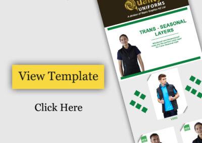 E commerce Templats Design to Promote Uniforms Store