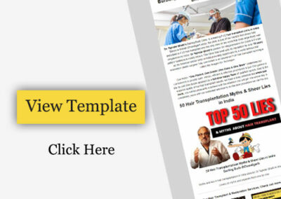 Email templates for promote your Hair Transplant clinic