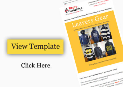 E commerce Templates Design to Promote Leavers Gear Store