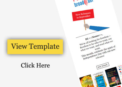 Email Newsletter Template Design for Book Publisher